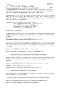 thumbnail of PV Conseil Municipal du 07 novembre 2018