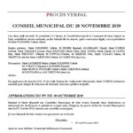 thumbnail of PROCES VERBAL CM 28 NOVEMBRE 2019
